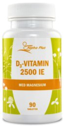 D-vitamin: Alpha Plus D3 Vitamin 2500 IE