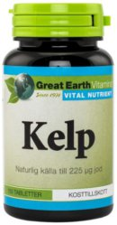 Jodtabletter: Great Earth Kelp