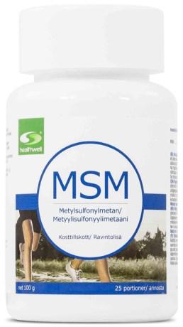 MSM-pulver: Healthwell MSM Pulver