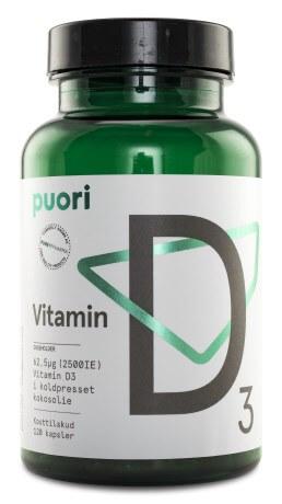 D-vitamin: Puori Vitamin D3